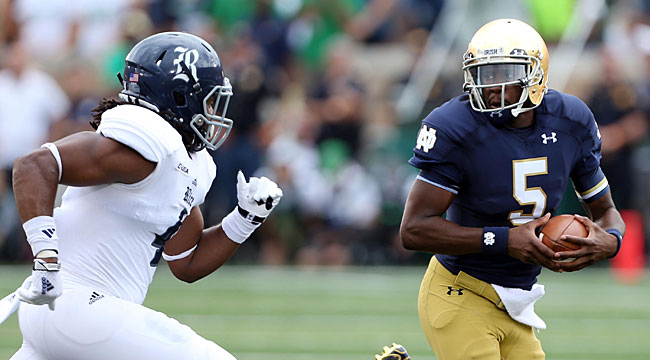 Follow LIVE: Golson back as No. 17 Irish face Rice