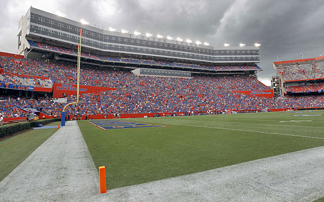 The Swamp lived up to its billing Saturday night when severe weather washed out the Gators' opener. (USATSI)