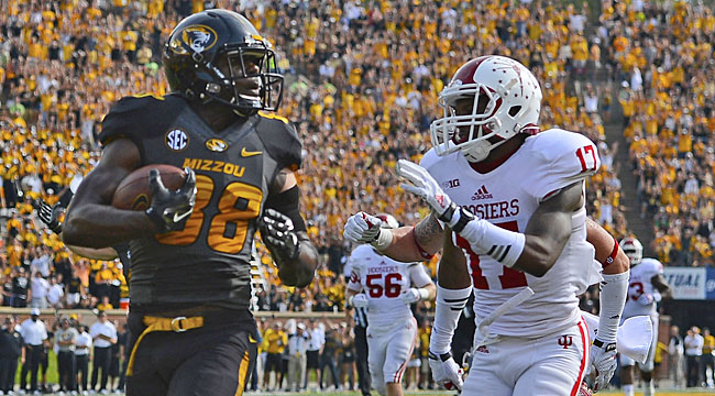 No. 18 Mizzou falls at home on late Ind. TD
