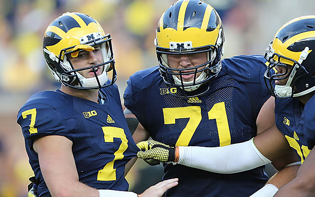 Michigan AD Dave Brandon confirmed Morris suffered a 'probable, mild concussion' Saturday. (Getty Images)