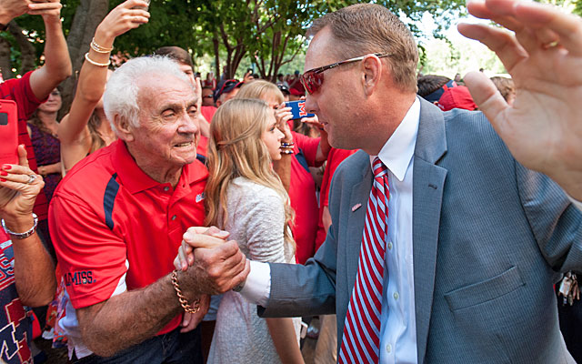 Hugh Freeze knows how important Saturday's game vs. Alabama is to Mississippi fans. (Getty Images)
