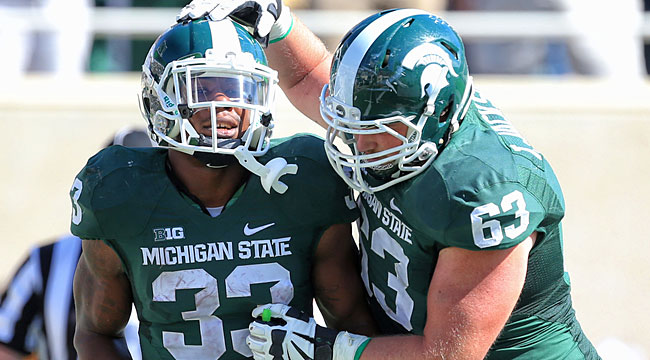LIVE: No. 8 Mich. State vs. reeling rival Michigan