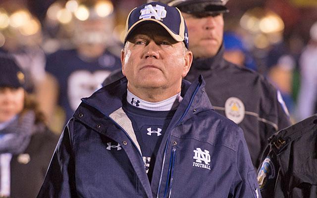 Brian Kelly has his drawbacks, like most coach candidates, but Florida should consider him. (USATSI)