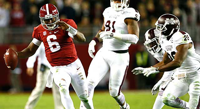 Blake Sims and Alabama could clinch the SEC West without running a play. (Getty Images)