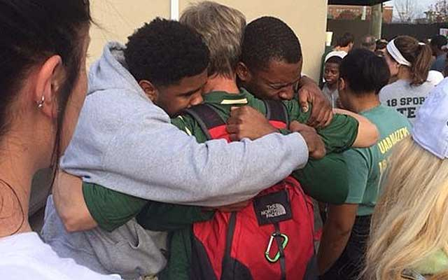 UAB players were left in tears by the school's decision to drop football.  (Jon Solomon)