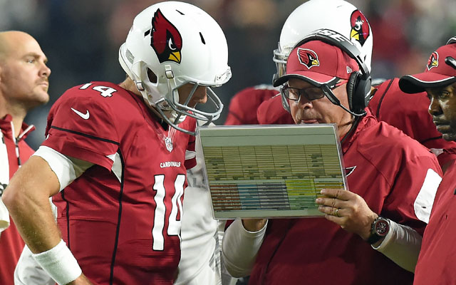 Arizona Cardinals coach Bruce Arians thinks college spread QBs 'are light years behind.' (Getty)