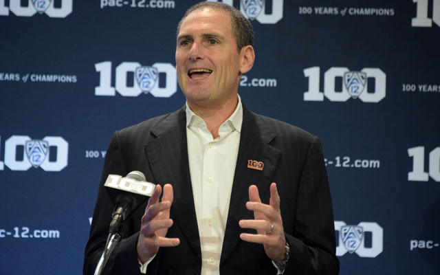 The Pac-12 and commissioner Larry Scott could lead the way to athletes getting paid off their name. (USATSI)