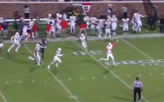 Miami lateraled eight times to score the game-winning touchdown. (ESPN)