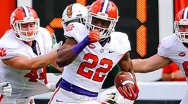 LIVE: No. 1 Clemson playing rival for 12-0 mark