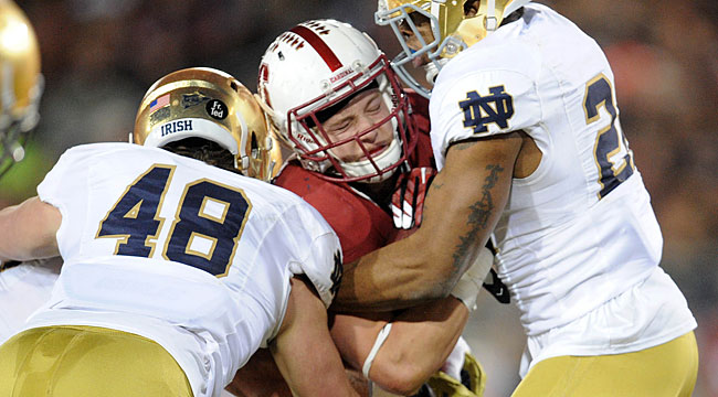 LIVE: Long TD puts No. 6 Notre Dame up at Stanford