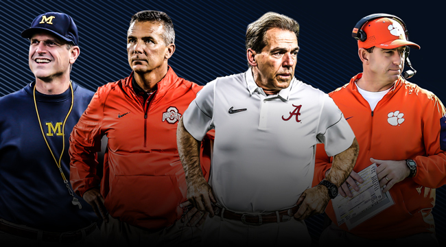 Top 25 CFB coaches