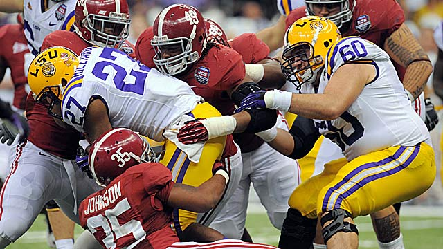 LSU and Alabama have a chance to showcase their programs to recruits this weekend. (US Presswire)