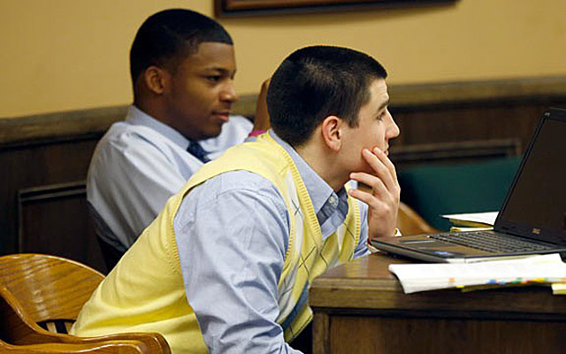 Mays (front) and Richmond are at the center of case that's gained notoriety far beyond Steubenville. (AP)