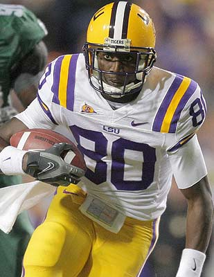 Terrance Toliver is another addition to a recent string of talented LSU receivers. (US Presswire)