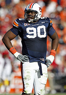 Chad Reuter has Auburn's Nick Fairley going fourth overall to the Bengals in his mock draft. (Getty Images)
