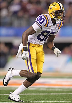 Terrence Toliver is a big, strong receiver who was hurt at LSU by lousy quarterback play. (US Presswire)