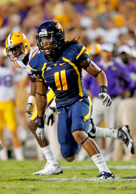 A junior college All-American at Mount San Antonio College, Bruce Irvin racked up 14 sacks last year at West Virginia. (US Presswire)