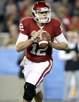Landry Jones has all the physical tools, which offsets his lack of experience. (Getty Images)