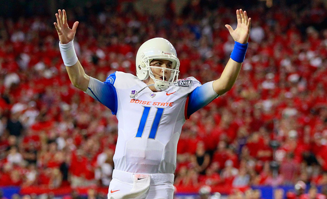 Kellen Moore continues to improve his NFL Draft stock after Boise State's win over Georgia. (Getty Images)
