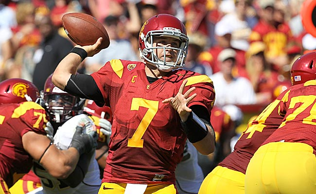 Matt Barkley maintains his top-five status with a big game against Minnesota. (Getty Images)