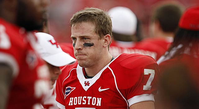 Houston star Case Keenum has a glum game in an otherwise big season. (US Presswire)