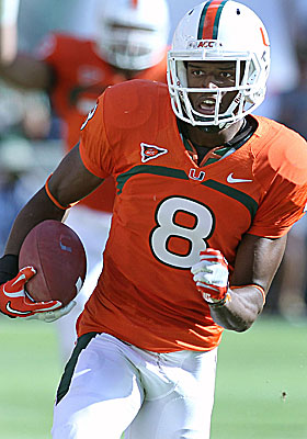 Miami's Tommy Streeter is a lanky wideout with an exciting upside. (US Presswire)
