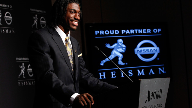 RG3 took the Heisman ahead of Luck, but their draft order will almost certainly flip. (Getty Images)
