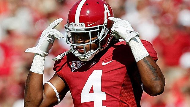 Alabama's Mark Barron is rated as the top safety in the draft and No. 17 on this board. (Getty Images)