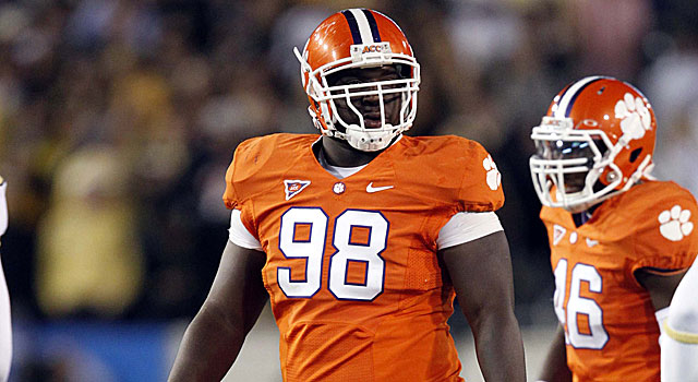 Clemson's Brandon Thompson may be selected towards the bottom of the draft's first round. (Getty Images)