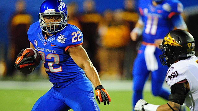 Boise State's Doug Martin ran for 1,299 yards with 18 total touchdowns in 2011. (US Presswire)