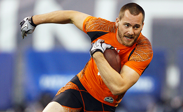 Rhett Ellison is one of two fullbacks at this years combine, but don't expect hiim to be drafted. (US Presswire)