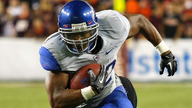 Often overshadowed at Boise, Doug Martin is the draft's second-best back, Rang says. (Getty Images)