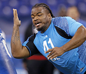 Dontari Poe has drawn comparisons to Baltimore Ravens big man Haloti Ngata. (Getty Images)