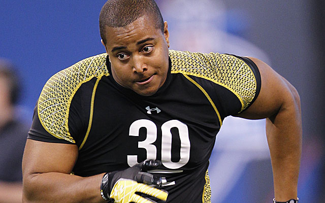 Stanford's Jonathan Martin figures to go in the first round. There will be plenty of demand. (Getty Images)