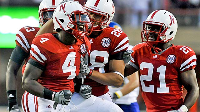 Speedy linebacker Lavonte David (4) was a major playmaker at Nebraska. (Getty Images)