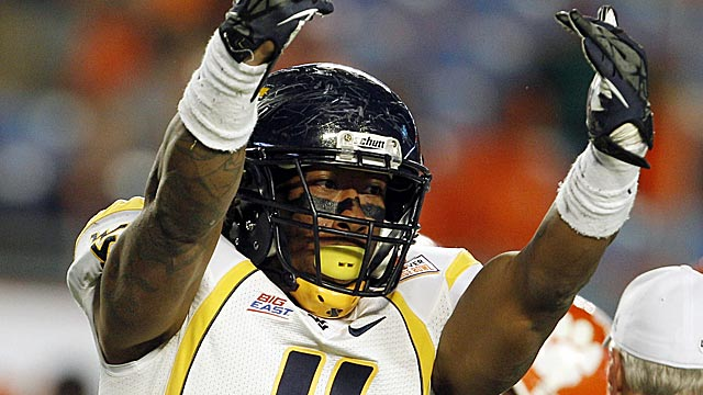 Bruce Irvin rode some late momentum all the way to the No. 15 slot in the draft. (AP)
