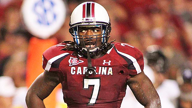 Jadeveon Clowney has lived up to the hype as a former No. 1 national recruit. (USATSI)