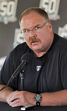 Andy Reid will have a lot of explaining to do if his gambles don't pay off for the Eagles. (Getty Images)