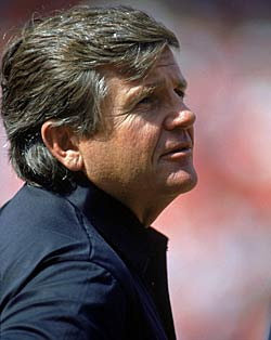 Jerry Glanville was at the center of an infamous two-team scrimmage in 1990. (Getty Images)