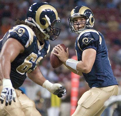 Is rookie Sam Bradford going to be the starting QB? He plays well, going 6 for 6 with a TD pass. (US Presswire)
