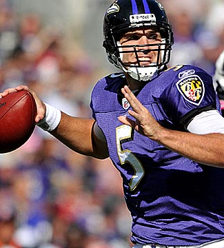 Joe Flacco gets better receivers and could post much bigger numbers. (Getty Images)