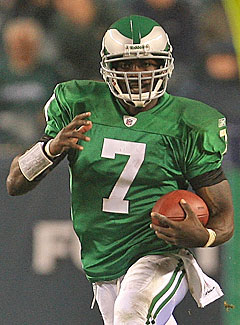 Michael Vick has six more 100-yard rushing games than 300-yard passing games in his career. (Getty Images)