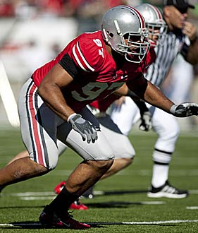 Cameron Heyward flashed some of his skills in Ohio State's big win over Miami. (US Presswire)