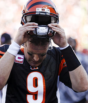 Carson Palmer is the biggest culprit in the Bengals' slow start. (AP)