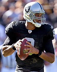Jason Campbell has led the suped-up Raiders to consecutive blowout wins. (Getty Images)