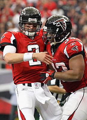 Matt Ryan says 'I don't think we've played our best yet,' after watching Michael Turner rush for two scores. (Getty Images)