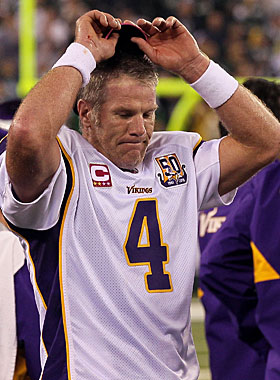 Brett Favre says he's done with football after this season. You might want to check back in May ... just in case. (Getty Images)