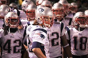 No question about it: Tom Brady is New England's on-field leader, and they respond to his criticism. (Getty Images)
