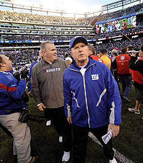 Since the Giants won, that makes Coughlin a genius ... this time around. (AP)