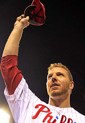 Halladay shares the moment after his perfect game. (Getty Images)